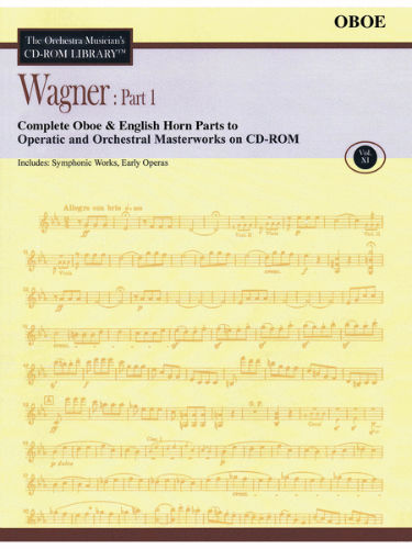 Wagner: Part 1 – Volume 11 - CD Sheet Music Series – CD-ROM