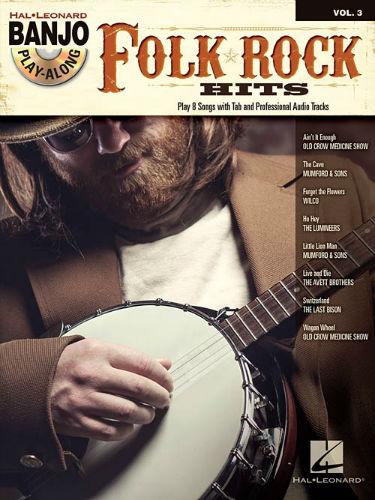 Folk/Rock Hits - Banjo Play-Along Volume 3 Book and CD
