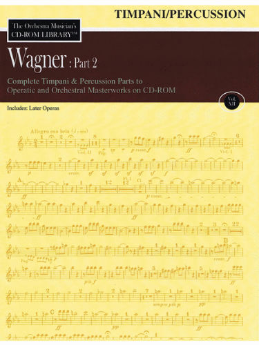 Wagner: Part 2 – Volume 12 - CD Sheet Music Series - CD-ROM