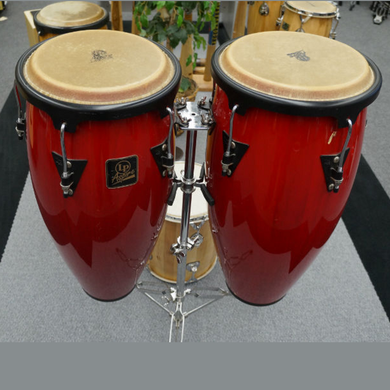Latin Percussion Aspire Wood Conga Set with Stand