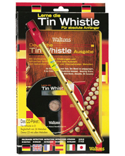 Waltons German Tin Whistle ( Key of D ) Book and CD Pack