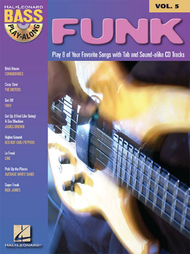 Funk - Bass Play-Along Volume 5 Book and CD