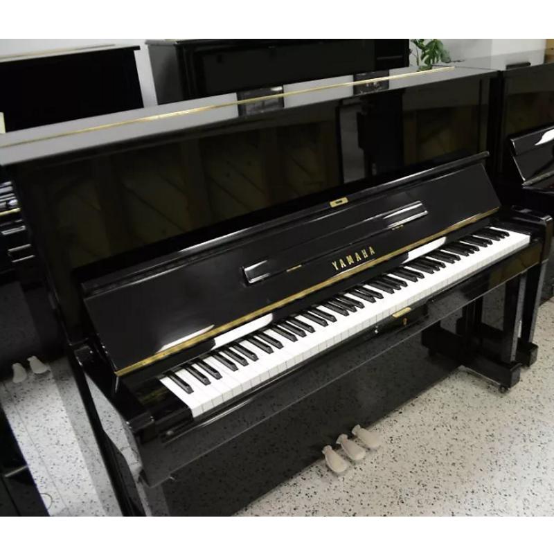 Yamaha u1 upright piano black polish minneapolis music for Yamaha upright piano used