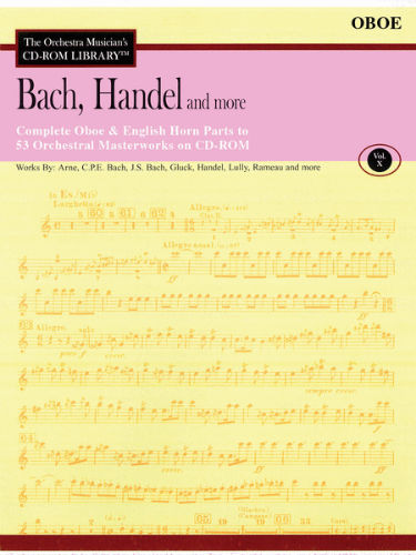 Bach, Handel and More – Volume 10 - CD Sheet Music Series - CD-ROM