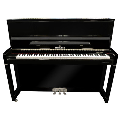 Schiller Concert C48 Upright Piano Ebony Polish