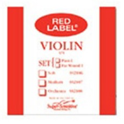 Super Sensitive Red Label Single Violin String ( 1/8, D )