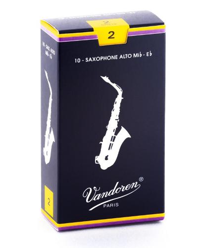 Vandoren Alto Saxophone Reeds (Assorted Strengths) Box of 10