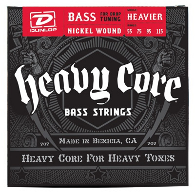 Dunlop Heavy Core Bass NPS, Heavier, 55-115