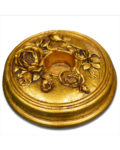 Vienna Strings Gold Round Cello Rockstop - Flower Design