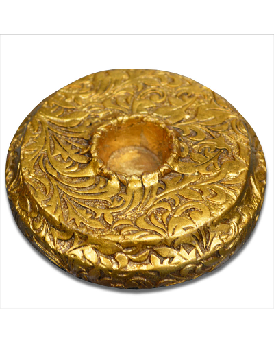 Vienna Strings Gold Round Cello Rockstop - Small Leaf Design