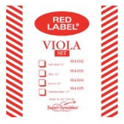 Super Sensitive Red Lable Single Viola Strings ( 12