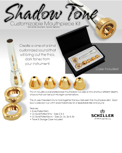 Schiller Shadow Tone Trumpet Mouthpiece Kit