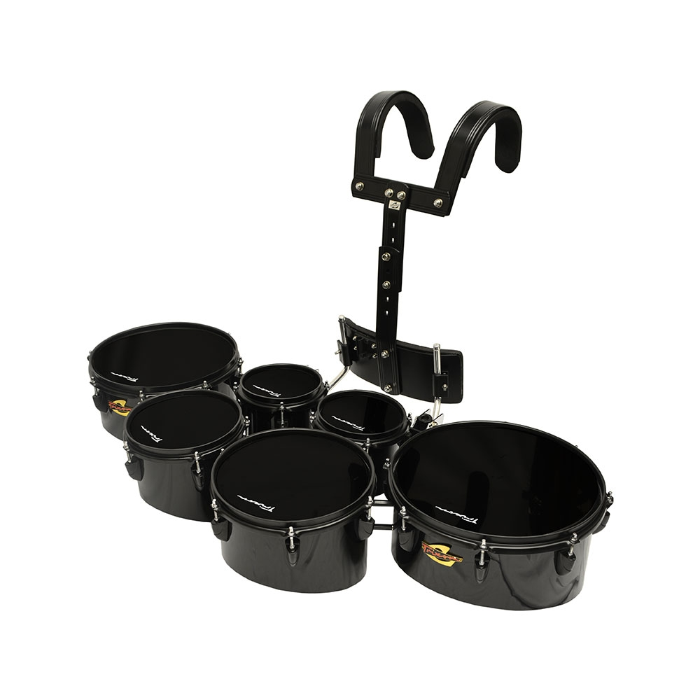 Trixon Pro Marching Toms set of 6 black