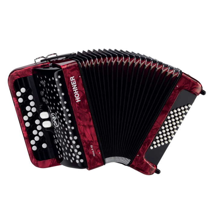 Hohner Nova II 48 Pearl Red C Stepped