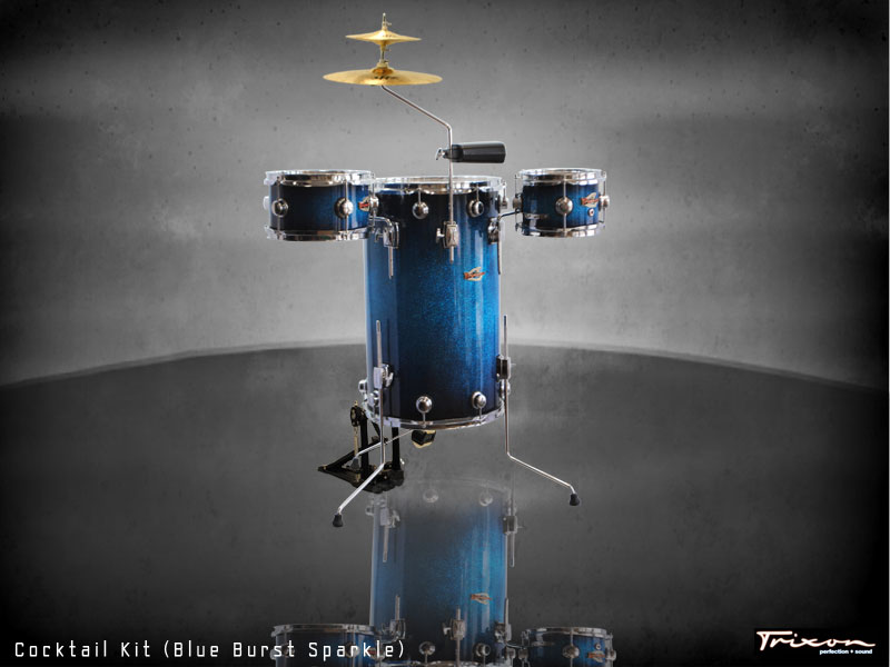Trixon Elite Cocktail Kit Blue Burst Sparkle