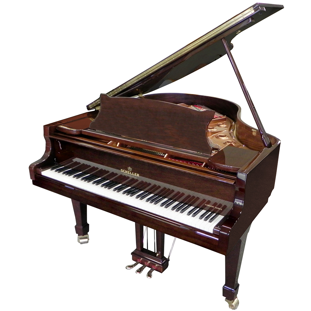 Schiller Concert 5.5 Grand Piano - Walnut Polish
