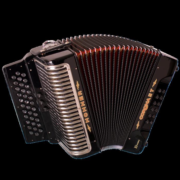 Hohner Corona II T XTREME  3 Switch CGF, Jet Black