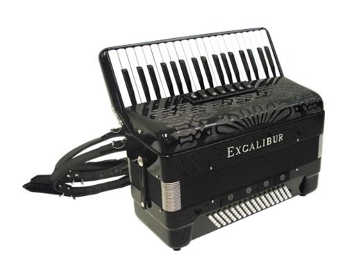 Excalibur Professionale Crown 80 Bass Accordion -Ebony Polish