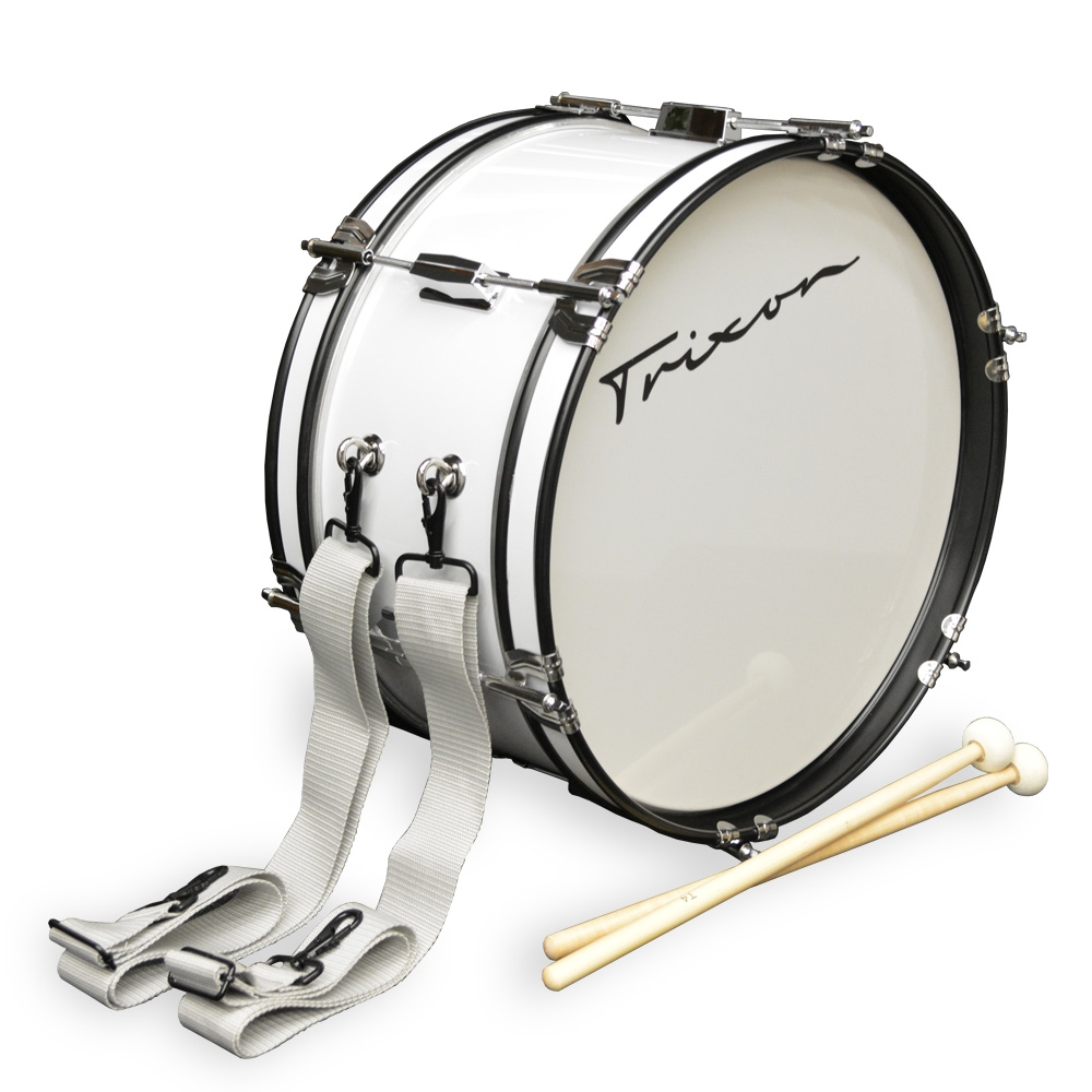 Trixon Junior Marching Bass Drum - White
