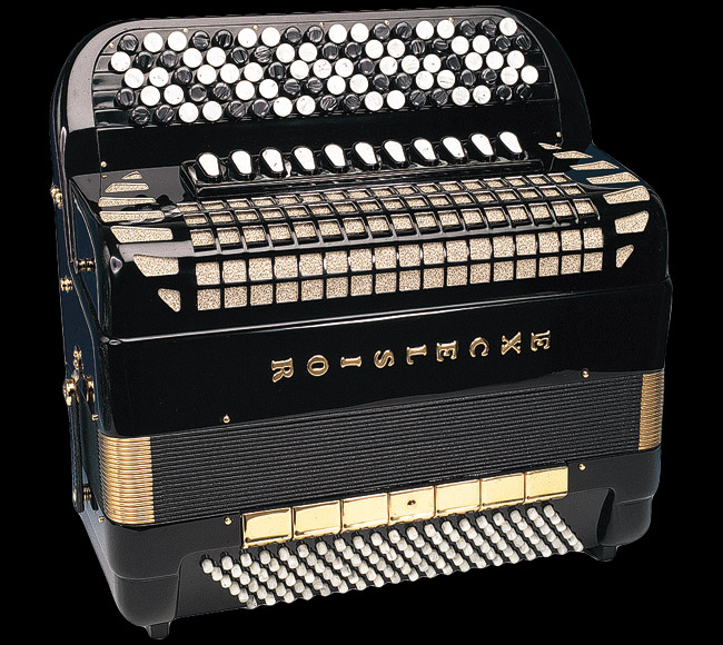 Excelsior Romance Gold 120 Bass Chromatic Accordion