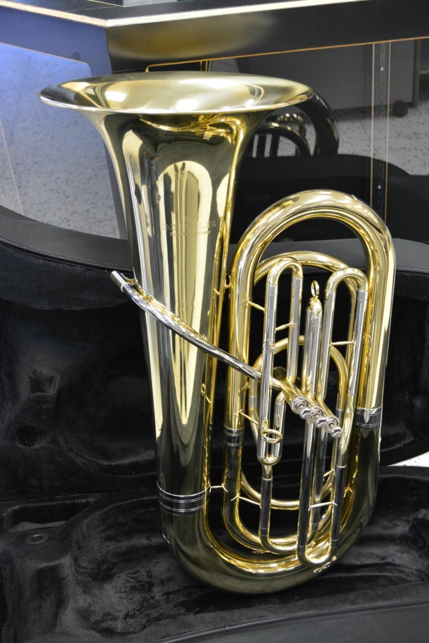 Schiller American Heritage 3-Valve Piston Tuba w/ minor bell defect