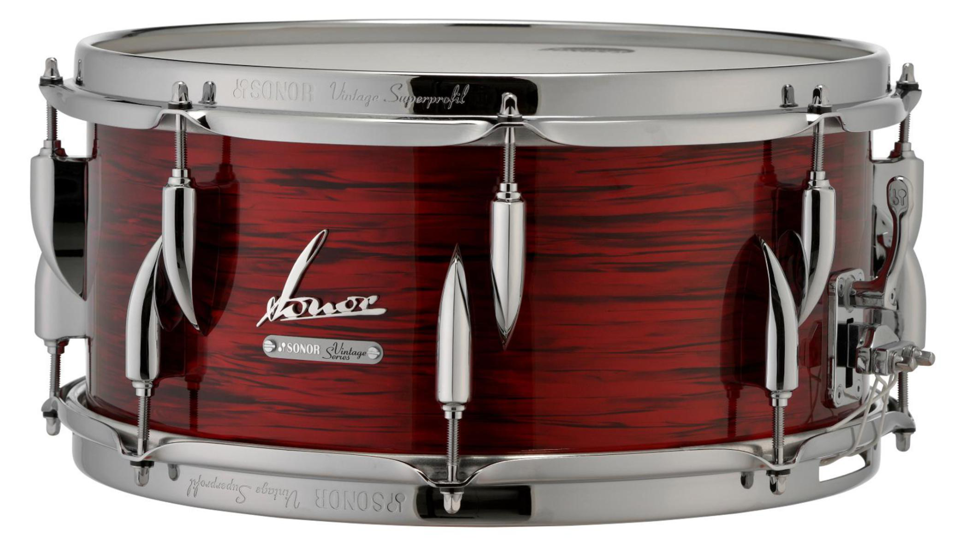 Sonor Vintage Series Snare Drum 14 x 6.5 in. Vintage Red Oyster