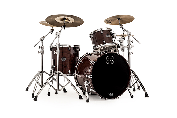 Mapex Saturn V MH Rock 3-piece shell pack with SONIClear Edge - SV426XTW - Transparent Espresso Walnut
