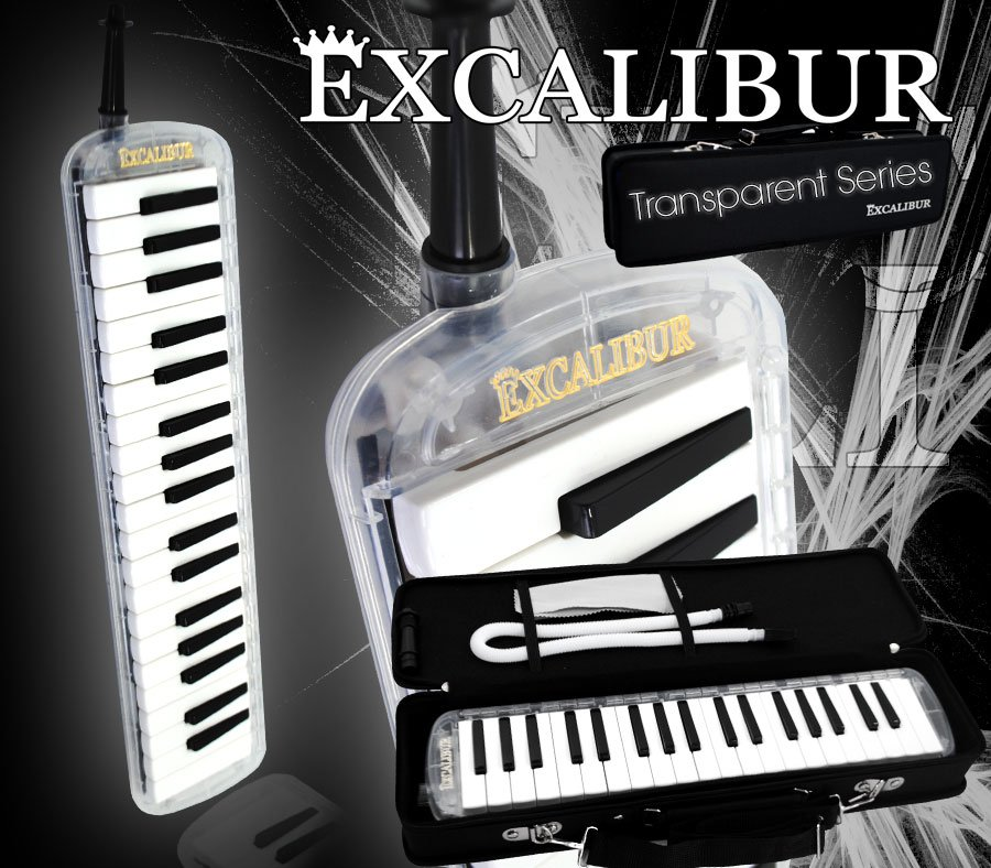 Excalibur 37 Note Melodica Clear Rain Transparent