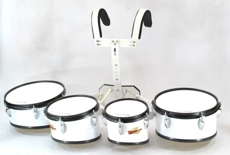Trixon Marching Toms set of 4 white