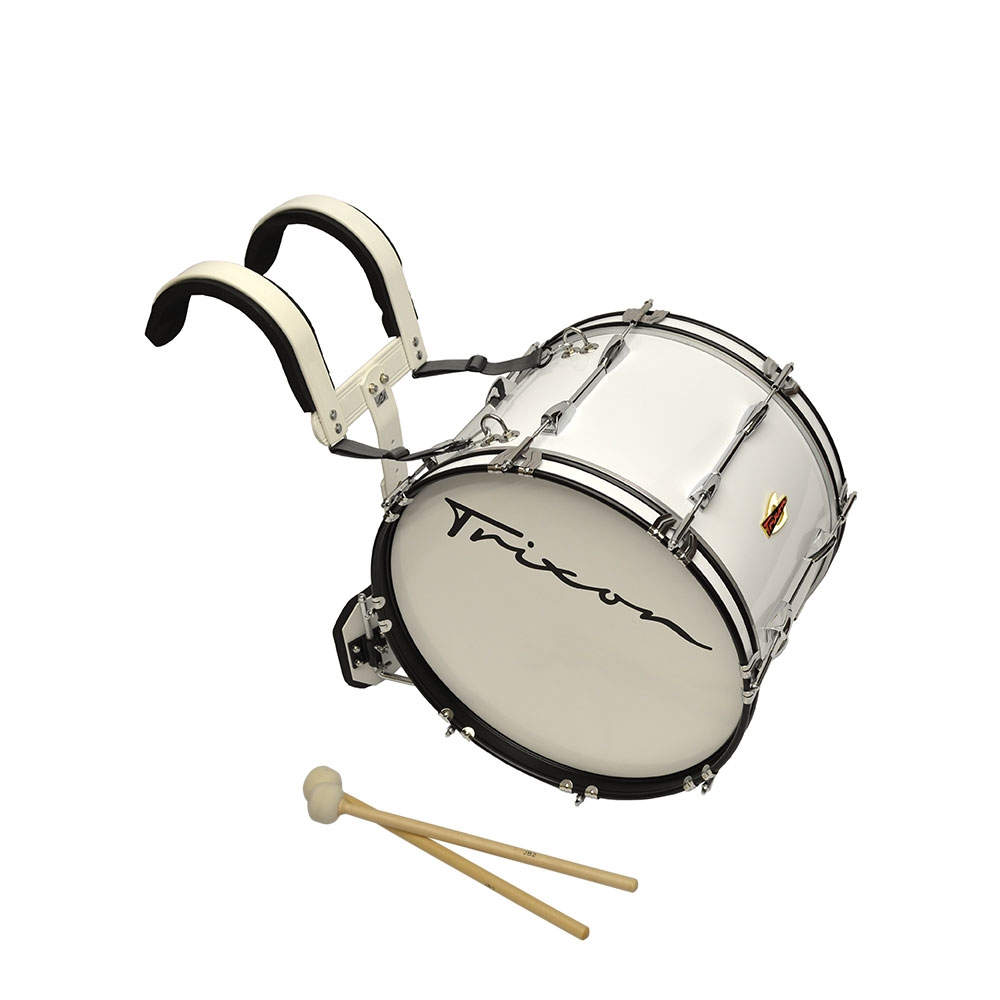 Trixon Marching Bass Drum 20x12 white