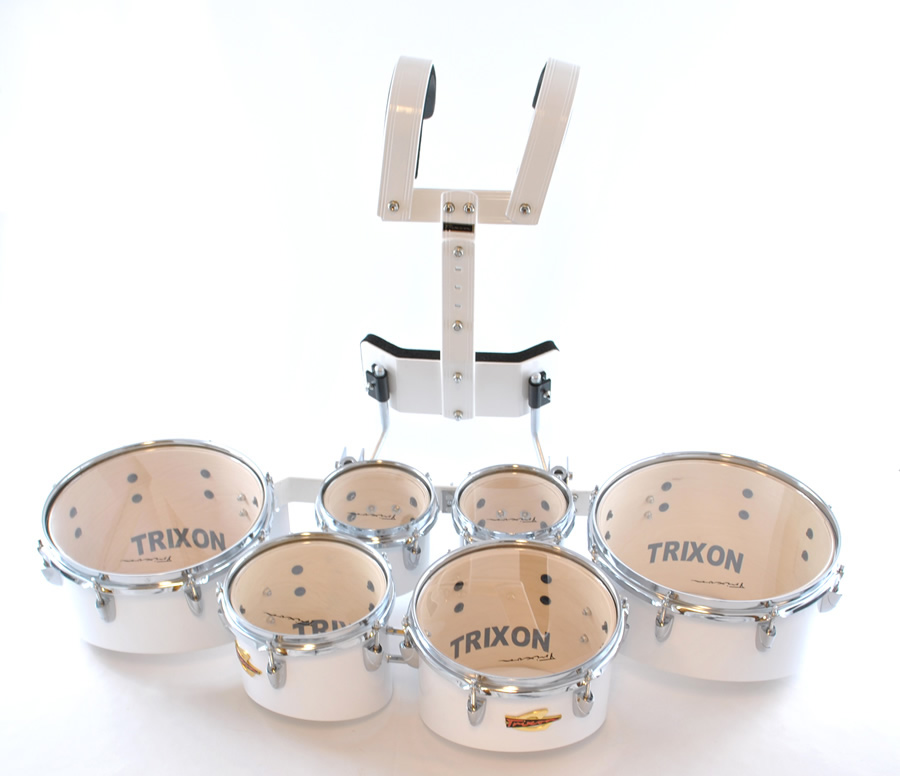 Trixon Pro Marching Toms set of 6 white