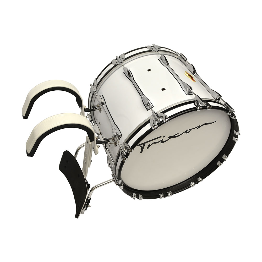 Trixon Pro Marching Bass Drum 20x14 white