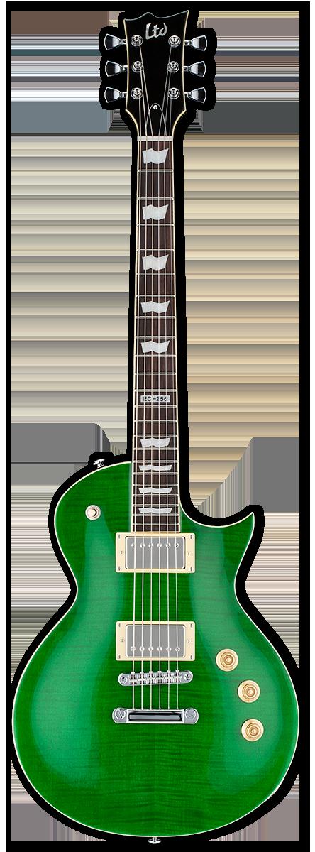 ESP LTD EC-256FM See Thru Green Electric Guitar