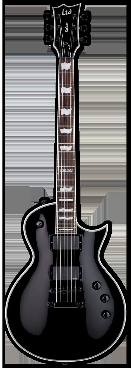 ESP LTD EC-1000S EMG Black Electric Guitar