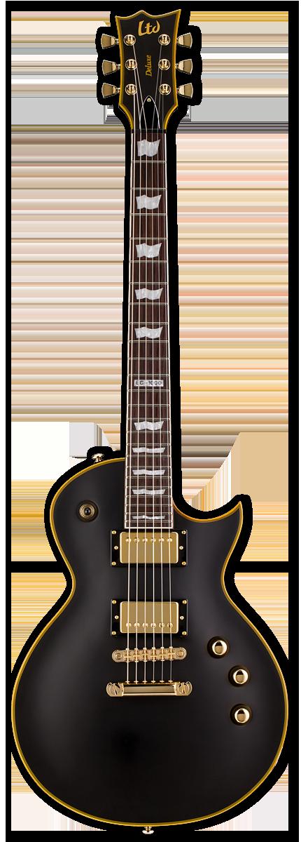 ESP LTD EC-1000 Vintage Black Electric Guitar