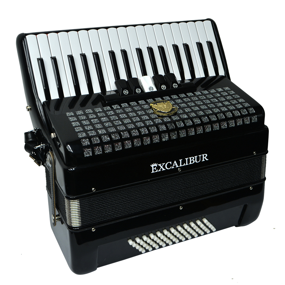 Excalibur Super Classic 60 Bass Piano Accordion - Black - Minneapolis music  store, Schiller, Steinway, Kawai pianos, and more