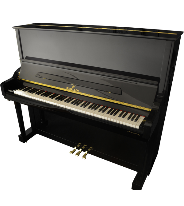 Schiller Performance Hamburg Upright Piano - Ebony Polish