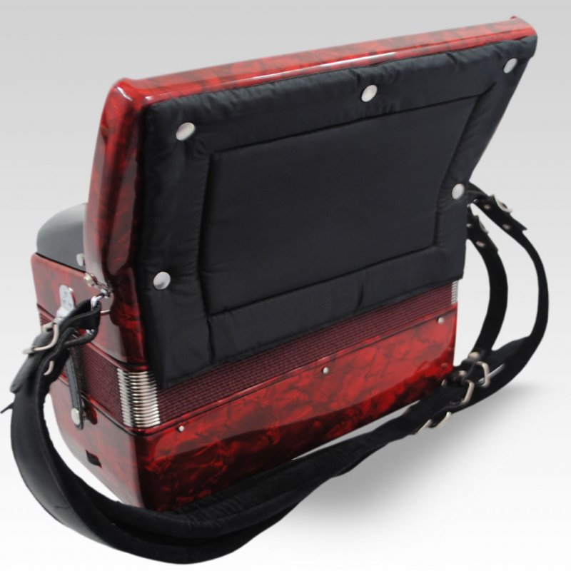 Excalibur German Weltbesten Ultraliite 60 Bass Piano Accordion - Pearl Red