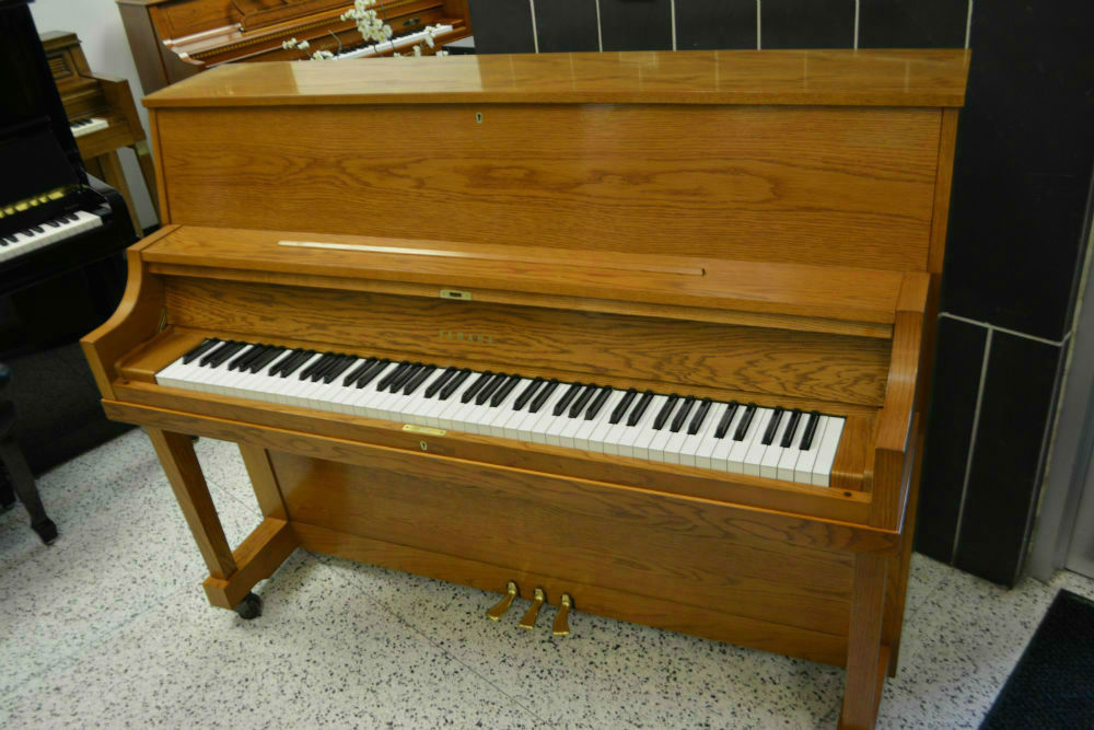 Yamaha Upright Piano w/ Player System – Satin Oak (used)