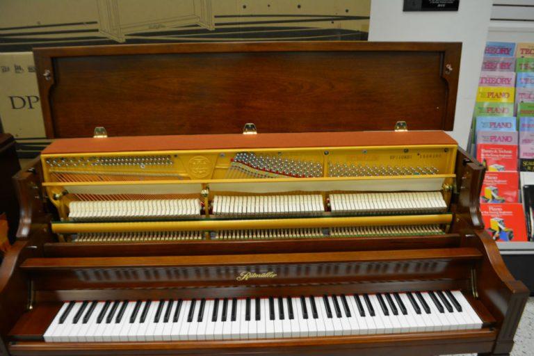Ritmuller 110 Decorator Console Piano Cherry Finish