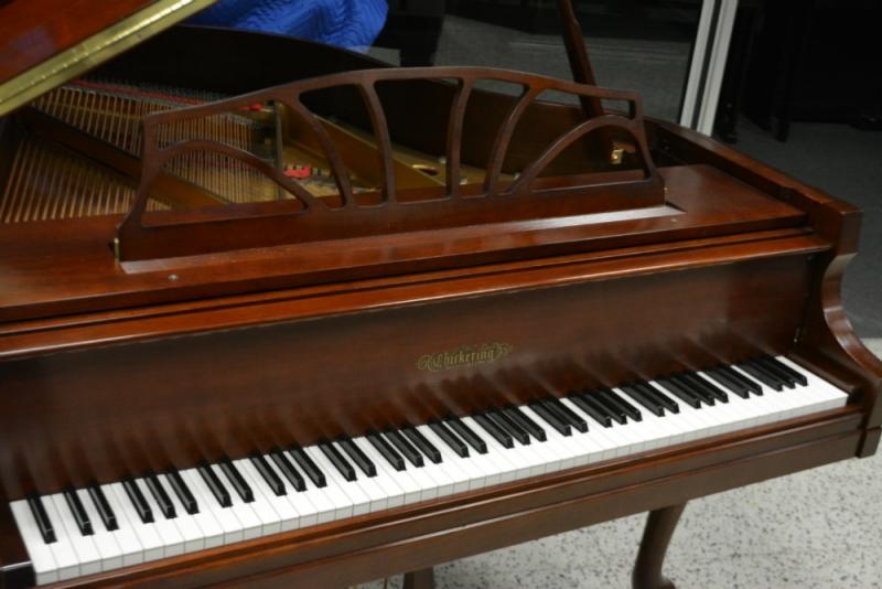Chickering Baby Grand Piano - Cherry Satin