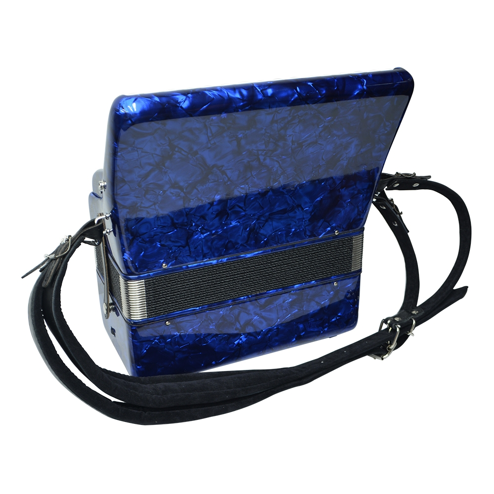 Excalibur Frankfurt 48 Bass Ultralite Accordion - Pearl Dark Blue