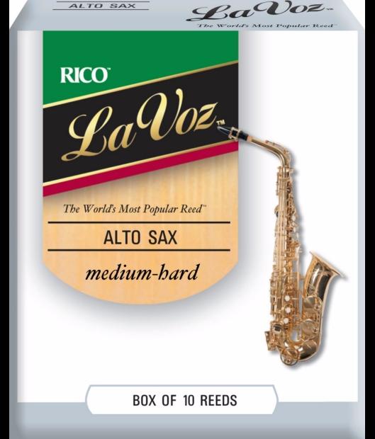 Rico La Voz Alto Saxophone Reeds - Box of 10