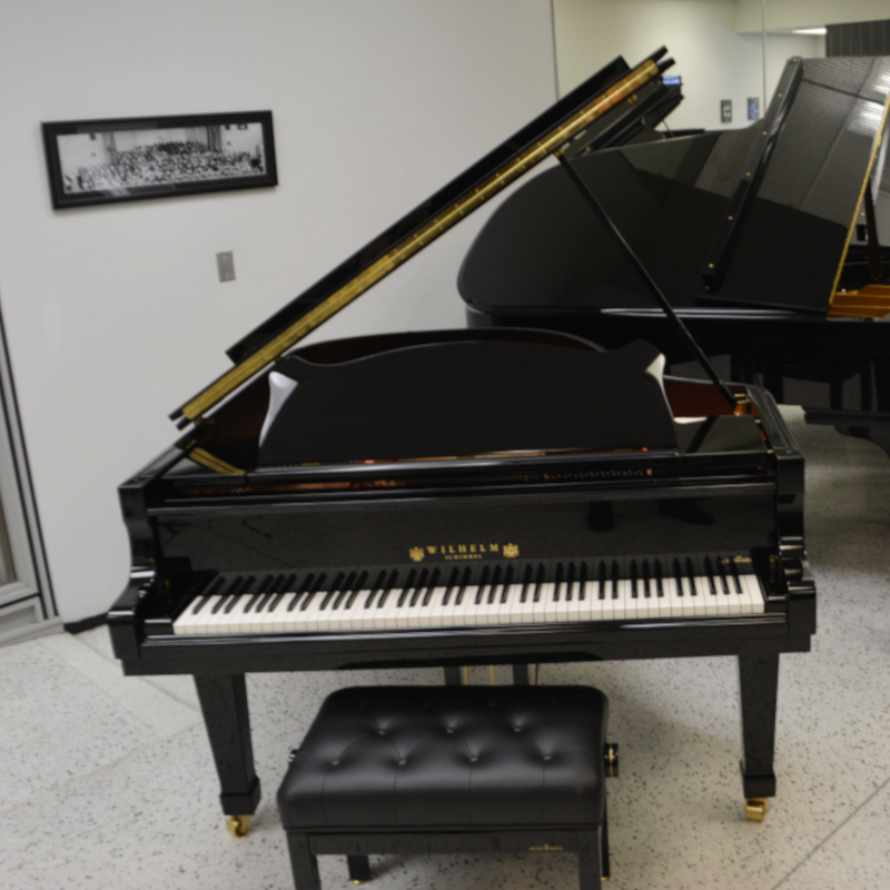 Schimmel Wilhelm 180 Grand with QRS Pianomation 3 Player Black Polish